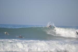Surfer Wave Tube Welle Billabong Pro Jeffreys Bay