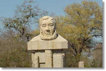 Paul Kruger Denkmal am Kruger Nationalpark in Südafrika