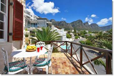 Apartments in Camps Bay mit Terrasse und Seeblick