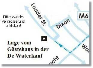 De Waterkant Map am Stadtzentrum gelegen