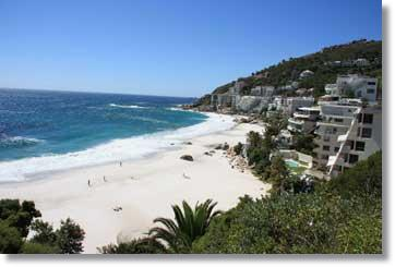 Clifton Beach an der Atlantikküste in Richtung Camps Bay