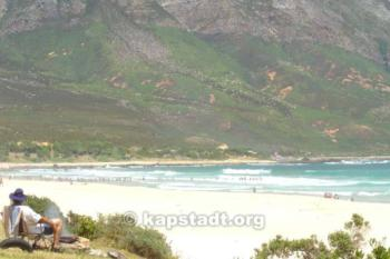 Küstengebiete West Cape Süd Afrikas Gordon's Bay