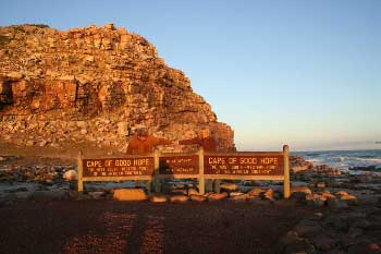 Cape of Good Hope und Cape Point auf der Kaphalbinsel südlich von Cape Town in Süd Afrika