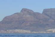 Devil's Peak am Rande vom Table Mountain in Cape Town Suedafrika