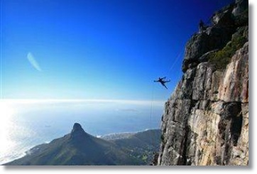 Abseil vom Table Mountain in Kapstadt Suedafrika
