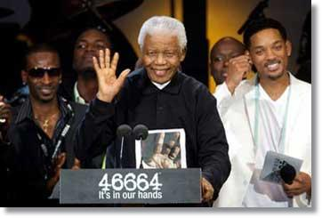 Nelson Mandela und Hollywoodstar Will Smith